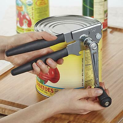 Hand Easy Crank Can Opener Commercial Steel Manual Heavy Duty Restaurant Safe