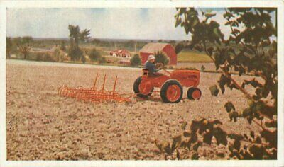 Allis Chalmers Tractor Advertising Farming Agriculture Postcard 12243