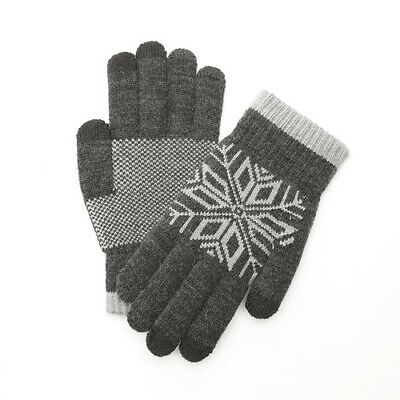 Winter Keep Soft Warm Wool Knitted Full Finger Touch Screen Gloves for Women Men