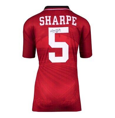 Lee Sharpe Signed Manchester United Shirt - 1996 Autograph Jersey