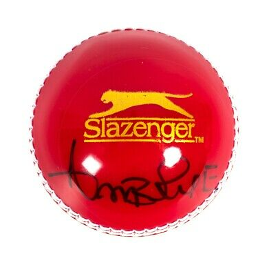 Curtly Ambrose Signed Cricket Ball - Red & White (Signed On Red) Autograph