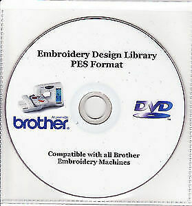 Brother Embroidery Design PES Format 37,000+ Designs DVD + Free Software Bundle