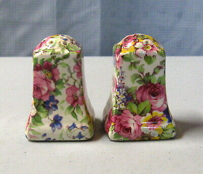 Royal Summertime Chintz Salt and Pepper Shakers