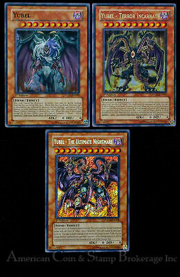 Yugioh Yubel + Terror Incarnate + Ultimate Nightmare 1st Edition 3 Crads NM