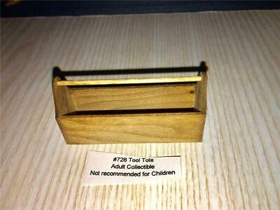 Miniature Dollhouse 1:12 Scale Stained Tool Tote/Box -  Sir Thomas Thumb - 728.2