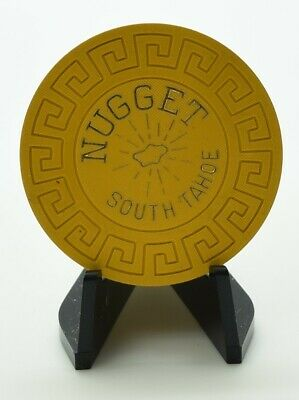 1970's South Tahoe Nugget Roulette Casino Chip Lake Tahoe NV Lg-Key Mold
