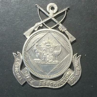 Pre WWI Silver Badge Fob National Rifle Association of NSW