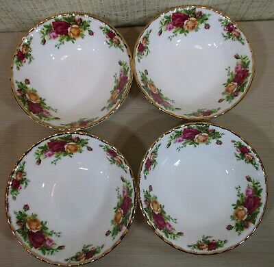 """4 Royal Albert China Old Country Roses Set 4 Cereal/Soup Bowls 6½"""" NEW With Tag"""