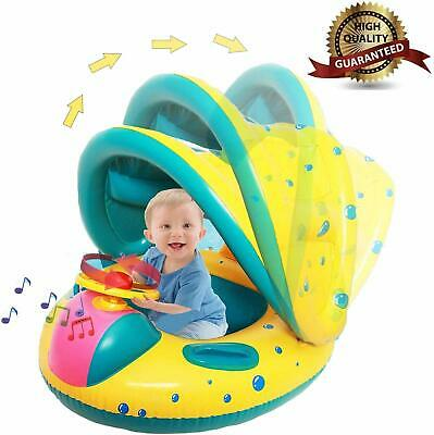 6-18 Months Inflatable Baby Kids Pool Float Swimming Ring Baby Seat Boat Yacht A