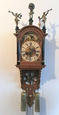 Warmink Schippertje Wall Clock Dutch Vintage Bell Strike Moonphase Pendulum