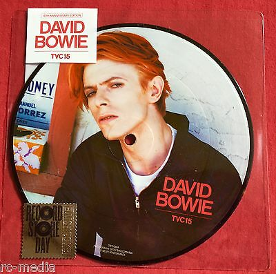 """DAVID BOWIE -TVC15- Rare UK Record Store Day 7"""" Picture Disc (Vinyl Record) RSD"""