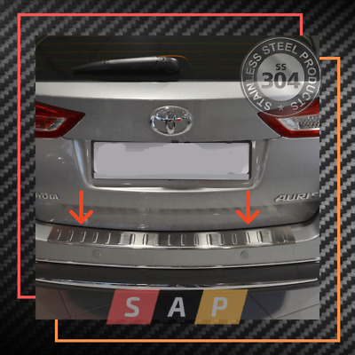 2014-2016 AURIS HB Stainless Steel Chrome Rear Bumper Protector Scratch Guard