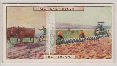Oxen Pulled Wood Plough and 1920s Disk Plows 85+ Y/O Trade Ad Card