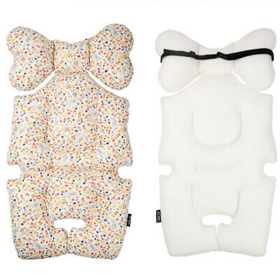 [to:tots] Stroller Seat Liner for Baby to Sit Comfortably - Floral Rabbit Ivory