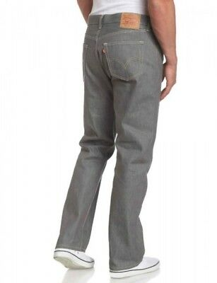 LEVI'S 505 Regular Fit Straight Leg Jeans NEW! Grey Boys 16 Gray New With Tags