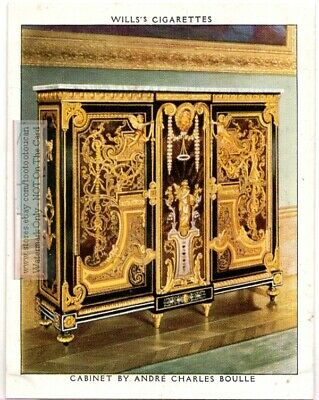Cabinet by Frenchman Andre Charles Boulle Funtiture 1930s Trade Ad Card