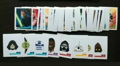 Star Wars Annee 2019 , 96 Stickers Complet Leclerc Autocollant Film Bd