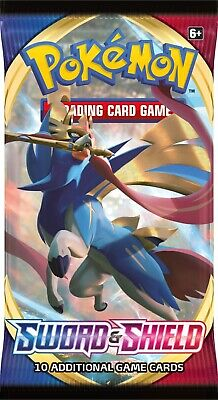 Pokemon Sword And Shield English TCG Booster Packs Lot Of 10 Pre Sale Ships 2/7