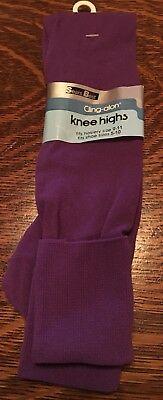 Vintage 1970's SEARS BEST Cling-alon Knee Highs Purple School Girl Socks NWT