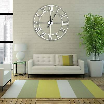 60Cm Extra Large Roman Numerals Skeleton Wall Clock Big Giant Round Open Face