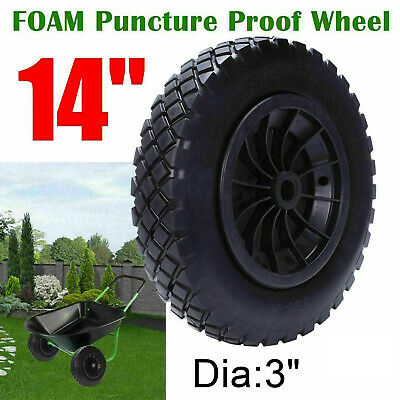 "**CLEARENCE** 14/"" 14 Inch Puncture Nanofoam Proof Wheelbarrow Wheel MADE IN UK"