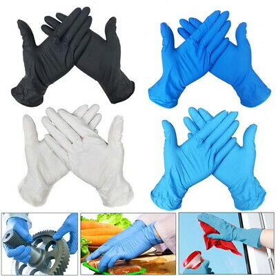 100 pcs Nitrile Disposable Gloves Powder Latex Free Mechanic Tattoo Valeting 32