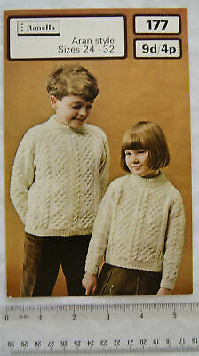 Vintage: Ranella 177 sweaters, DK & Aran, 24-32 inches