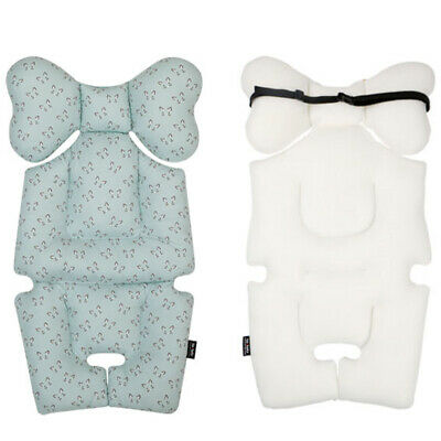 [to:tots] Baby Stroller Seat Cushion Pad Baby to Sit Comfortably -Cute Cat Blue