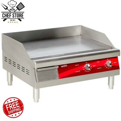 24 Stainless Steel Electric Restaurant Countertop Flat Top Griddle 208/240 Volt