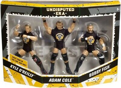 Undisputed Era 3 Pack Adam Cole Bobby Fish Kyle O'reilly WWE Mattel Elite Figure