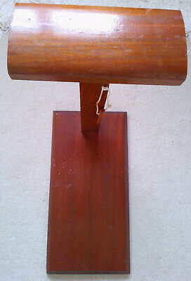 Lacemaking pillow stand adjustable in wood.