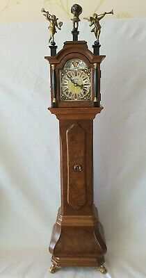 Warmink Longcase Clock Miniature Vintage Key Wind Moon Dial Key Wind 77cm