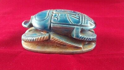 Ancient Egyptian Antiquities Scarab  (332–30 BC)