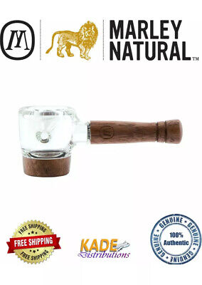 New Marley Natural Glass & Walnut Spoon Piece 100% Authentic w/ Free Shipping