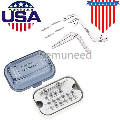 Dental Implant Tooth Measuring Ruler Tool& Implant Torque Wrench with 12 Drivers