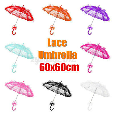 Embroidery Women Lady Lace Parasol Umbrella Gifts Bridal Wedding Party Decor