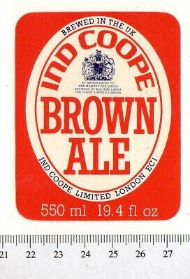 MINT IND COOPE /& ALLSOPP BURTON /& ROMFORD NUT BROWN ALE BREWERY BOTTLE LABEL