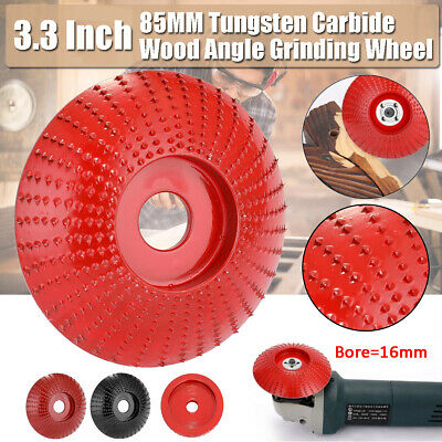 85mm Carbide Wood Angle Grinding Wheel Sanding Carving Rotary Tool 16mm Bore