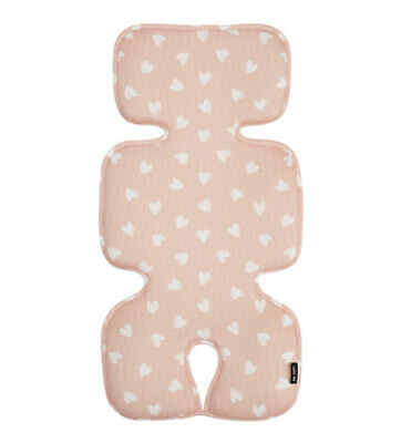 [to:tots] Baby Pram Cool Mat Seat Liner Stroller Pad Cushion, Indie Pink Heart