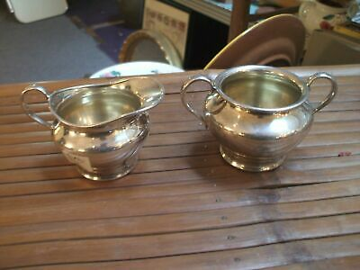 Creamer Sugar Silver Plate Forbes SP Co #738 Vintage Antique Silverplate B28