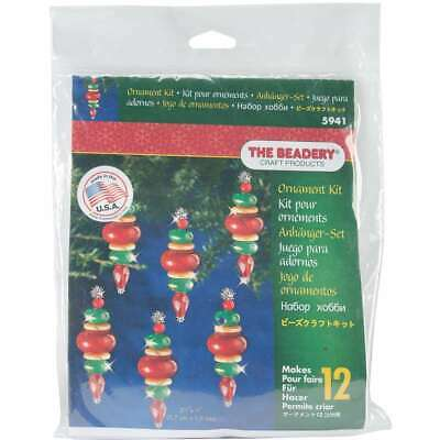 """Holiday Beaded Ornament Kit Victorian Baubles 2.25""""X.75"""" Makes 12 045155917476"""