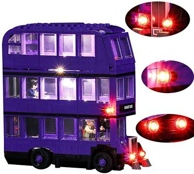 LED Light Up Kit The Knight Bus Lighting Set For LEGO 75957 Building Bus Kit PVC
