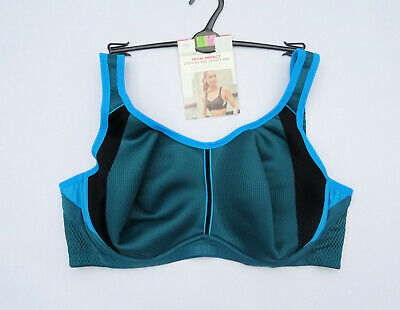 M & S Underwired  Sports Bra Light As Air High Impact Dk Turquoise Marks Spencer