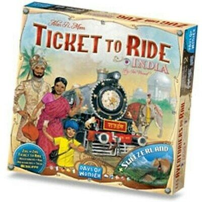 Ticket to Ride: India & Switzerland Map Pack Expansion by Days of Wonder 720114