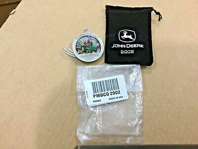 2002 John Deere pewter ornament with bag #7, FREE shipping!