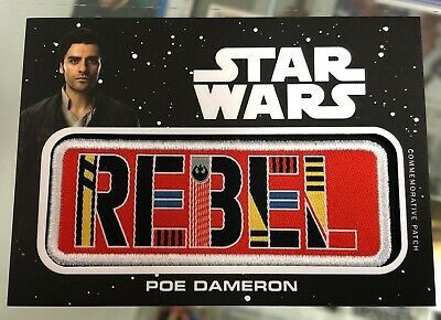 Topps Journey To Star Wars The Rise of Skywalker POE DAMERON Commemorative Patch