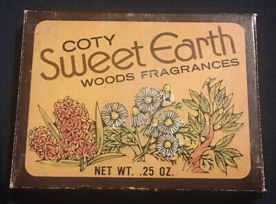 Vintage COTY Sweet Earth Woods Fragrances Solid Perfume COMPACT, New Old Stock