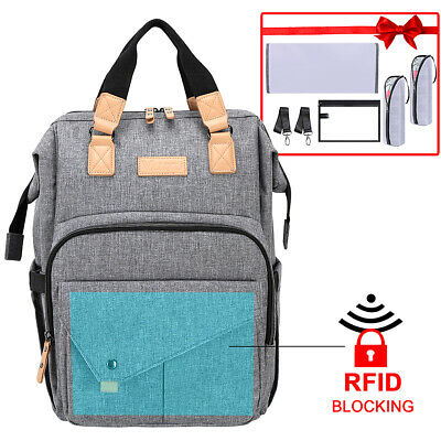 Mummy Maternity Nappy Diaper Bag Large Capacity Baby Changing Travel Backpack US