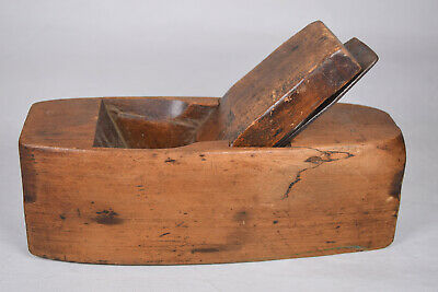 Antique Stamped Cast Iron Stamped Wood Coffin Woodworking Smoothing Plane