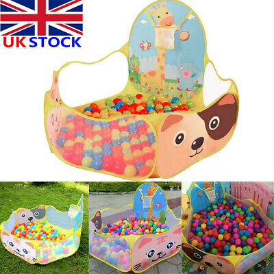 UK Portable kids Children Ocean Ball Pit Pool In/Outdoor Baby Game Play Toy Tent